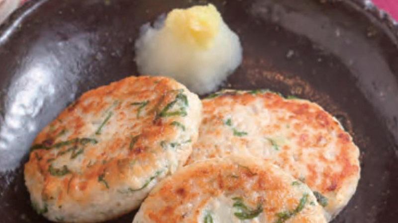 鶏とレンコンのハンバーグ